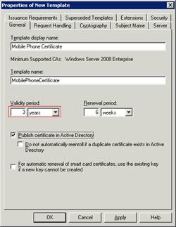 Create and enroll certificates for certificate based authentication switch to the issuance requirements tab and change the following yelopaper