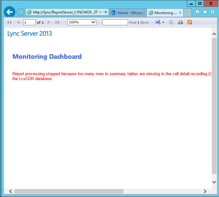 WebPage Error